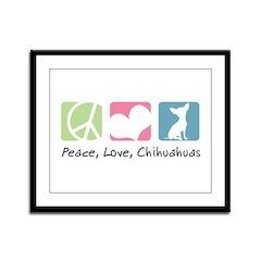 Peace, Love, Chihuahuas Framed Panel Print