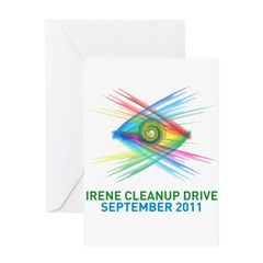 Irene Cleanup Drive Greeting Card