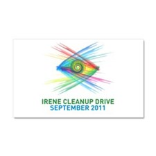 Irene Cleanup Drive Car Magnet 20 x 12