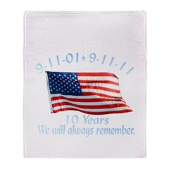 10 Years 9-11 Remember Throw Blanket