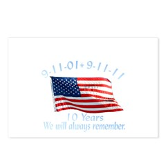 10 Years 9-11 Remember Postcards (Package of 8)