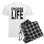 Choose Life Distressed Men's Light Pajamas