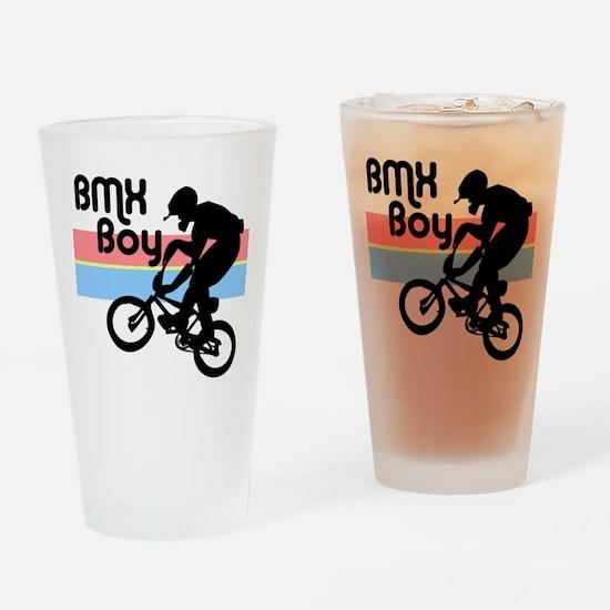 1980s BMX Boy Drinking Glass