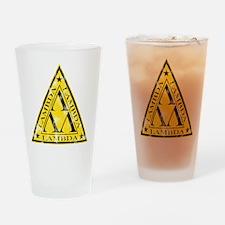 Worn Lambda Lambda Lambda Drinking Glass