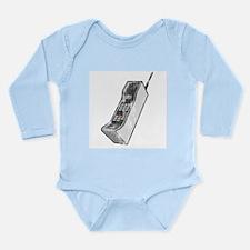 Worn 80's Cellphone Long Sleeve Infant Bodysuit