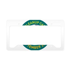 Irene Cleanup Campaign License Plate Holder