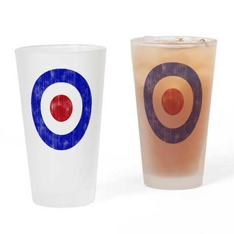 Sixties Mod Emblem Drinking Glass
