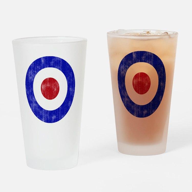 Sixties Mod Emblem Drinking Glass