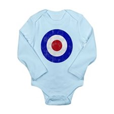 Sixties Mod Emblem Long Sleeve Infant Bodysuit