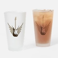 Winged Electric Guitar Drinking Glass