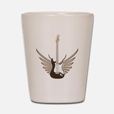 Winged Electric Guitar Shot Glass