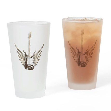 Wings Electric Guitar (worn) Drinking Glass