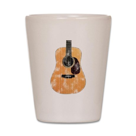 Acoustic Guitar (worn look) Shot Glass