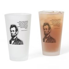 Abraham Lincoln Quote Drinking Glass