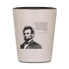 Abraham Lincoln Quote Shot Glass