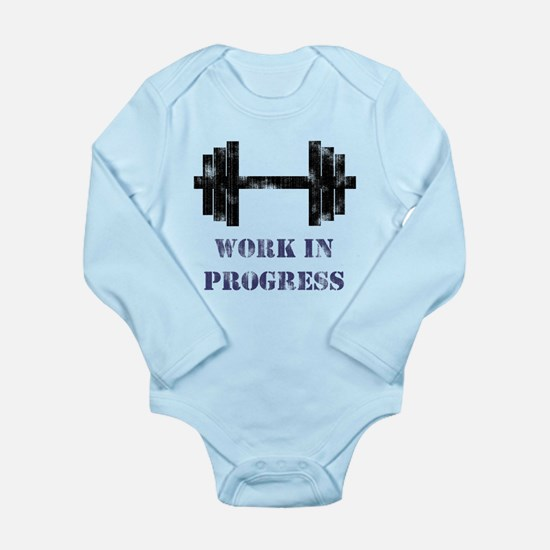 Gym Work In Progress Distress Long Sleeve Infant B