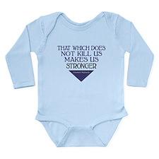 Nietzsche Quote Long Sleeve Infant Bodysuit