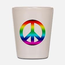 Rainbow Peace Sign Shot Glass