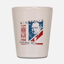 Worn British Churchill Bar Shot Glass