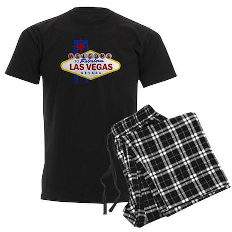 Welcome to Fabulous Las Vegas Men's Dark Pajamas