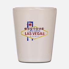 Las Vegas Sign Distressed Shot Glass