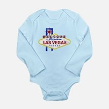 Las Vegas Sign Distressed Long Sleeve Infant Bodys