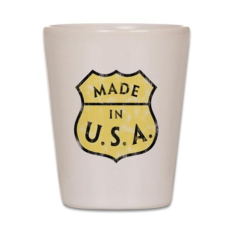 Made In USA Shot Glass