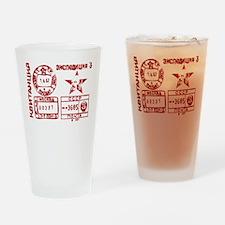 Soviet Postmark Drinking Glass