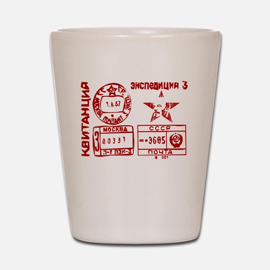 Soviet Postmark Shot Glass