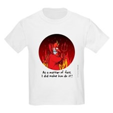 Devil Made Him Do It Kid's Tee