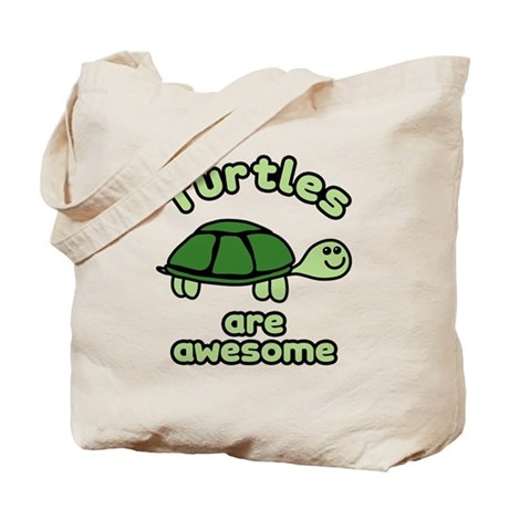 Turtles are Awesome Tote Bag