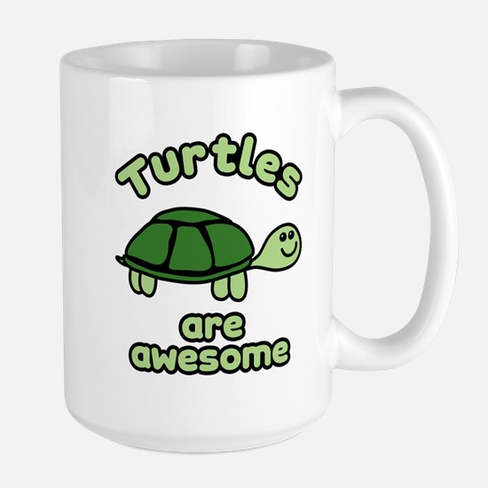 Turtles are Awesome Large Mug