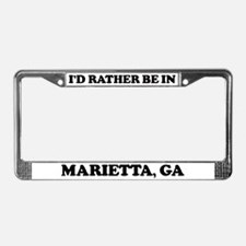 Rather be in Marietta License Plate Frame
