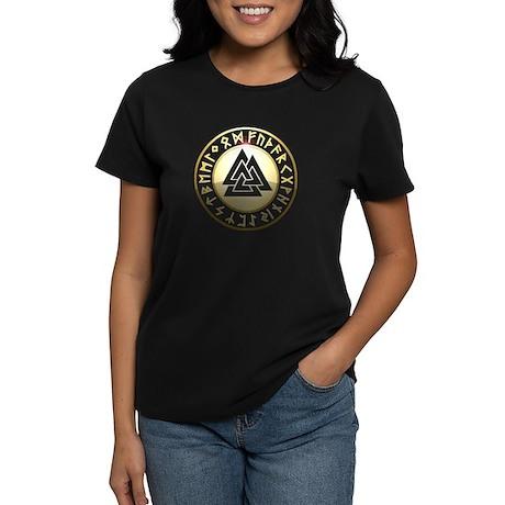 valknut rune shield Women's Dark T-Shirt