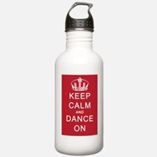 Keep Calm and Dance On (Red) Water Bottle