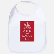 Keep Calm and Dance On (Red) Bib