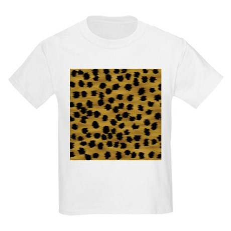 Faux cheetah animal prin kids light t shirt faux cheetah for Leopard print shirts for toddlers