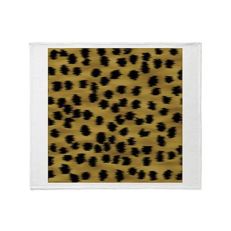 Faux Cheetah Animal Print Throw Blanket