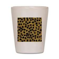 Faux Cheetah Animal Print Shot Glass
