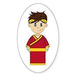 Cute Roman Emperor Sticker (50 Pk)