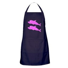 Two Pink Dolphins Apron (dark)