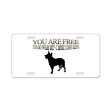 Cattle Dog Says Aluminum License Plate