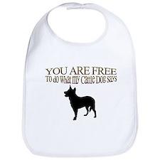 Cattle Dog Says Bib