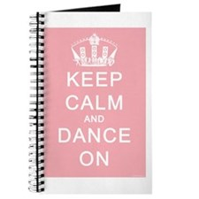 Keep Calm and Dance On (Pink) Journal