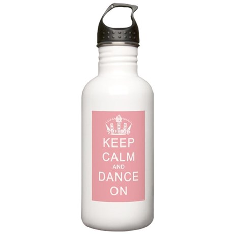 Keep Calm and Dance On (Pink) Stainless Water Bott