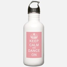 Keep Calm and Dance On (Pink) Water Bottle