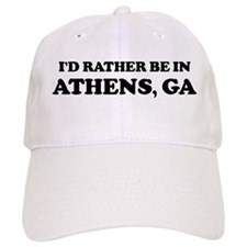 Rather be in Athens Baseball Cap