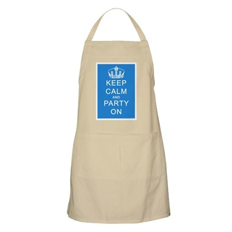 Keep Calm and Party On (Blue) Apron