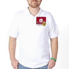 Silky Flag of Tunisia  T-Shirt