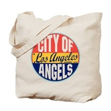 Los Angeles Vintage Label Tote Bag
